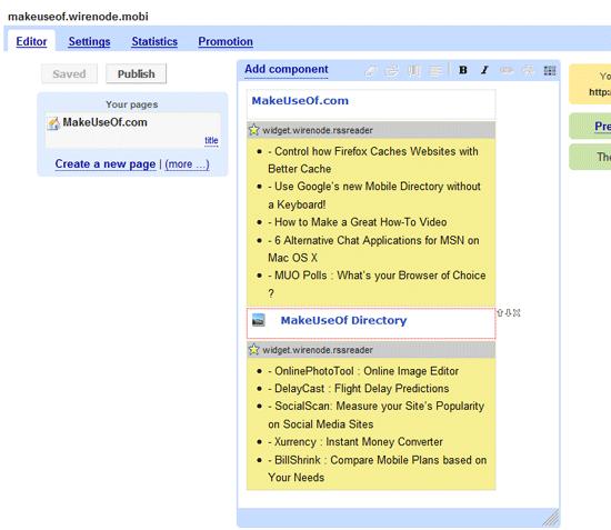 WireNode - Mobile Site Editor