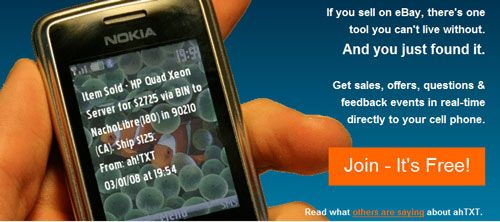 ahTXT - Get eBay Auction Alerts on your Mobile Phone