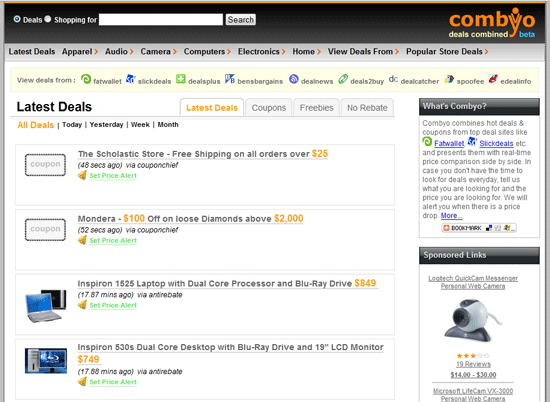 combyo deals coupons   Combyo: Hot Deals and Bargains from top Deal Sites