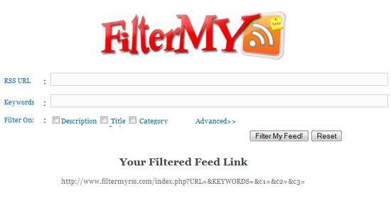 FilterMyRSS -