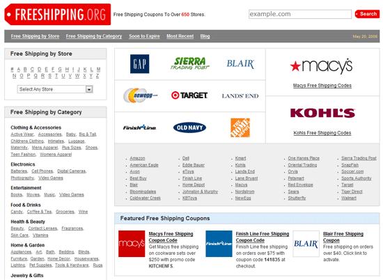 Free Shipping Codes