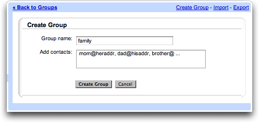 Create Gmail Groups