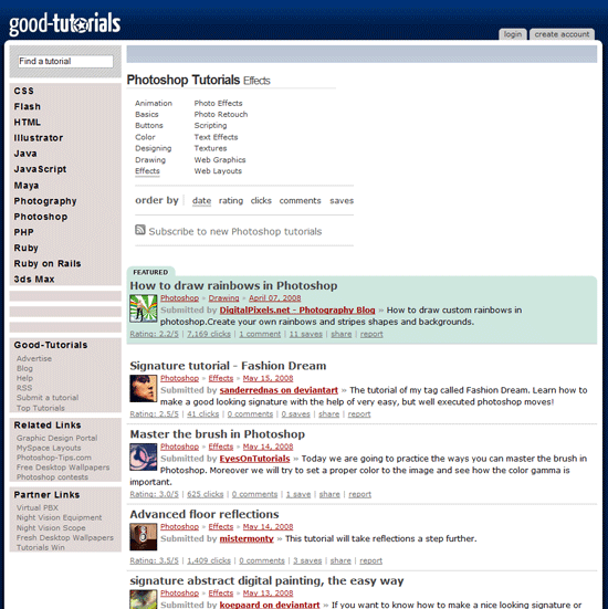 Good-Tutorials - Flash, Photoshop, CSS and HTML Tutorials