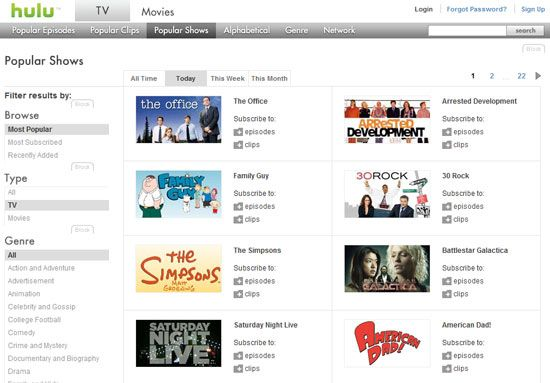 Watch TV Show Espisodes and Movies Online