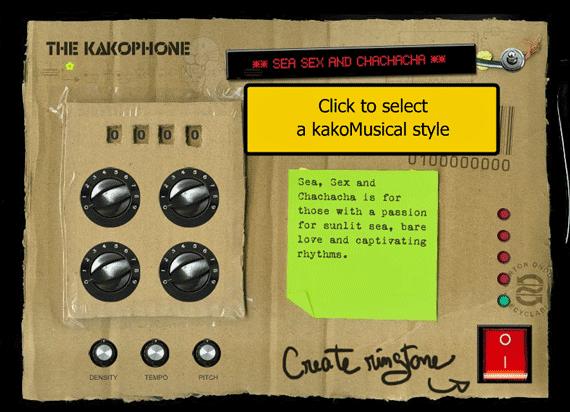 Kakaphone - Free Ringtone Composition Machine