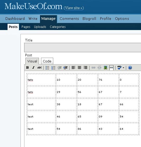 HTML Table Creator