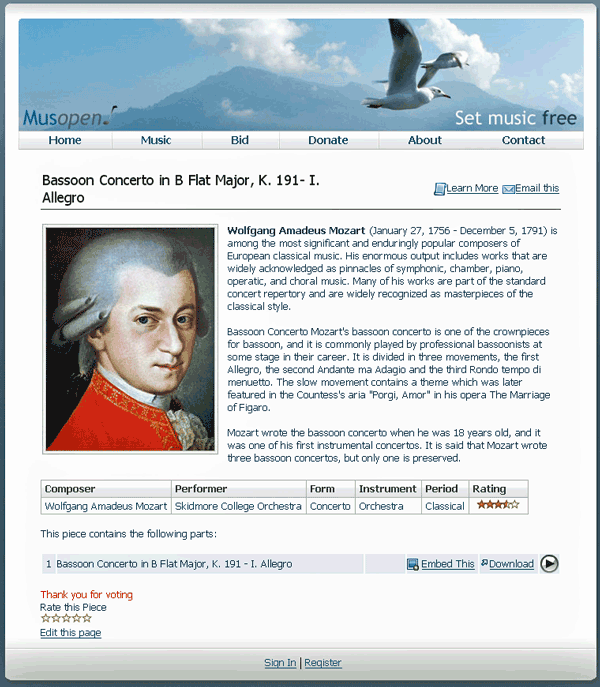 Public-domain Classical Music