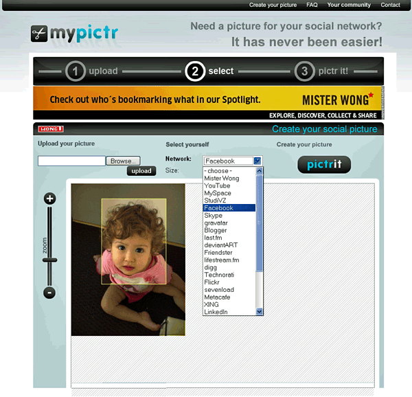 MyPictr - Picture for Social Networking Profile