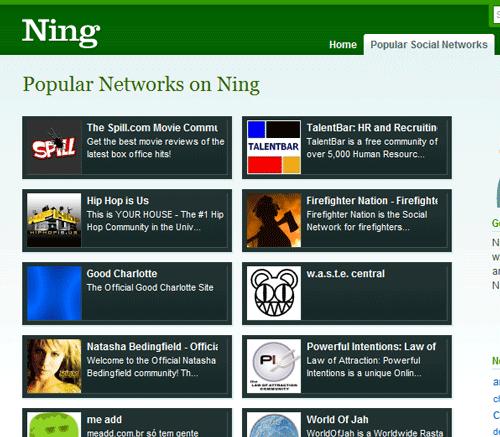 Ning - Create Social Netwroking Website