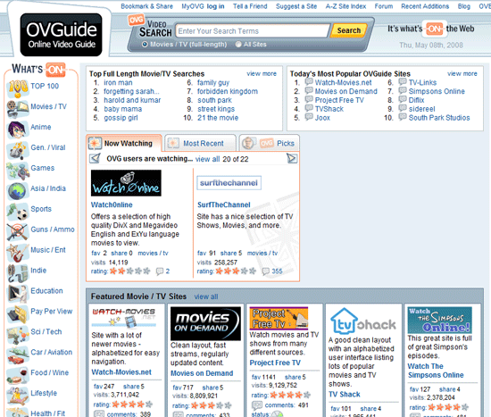 ovg ovguide video   OVGuide : Ultimate Online Video Guide