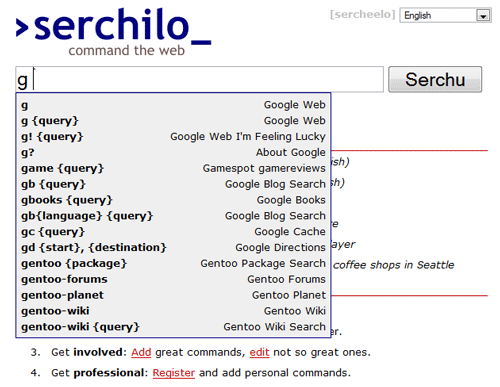 Serchilo - Search command line