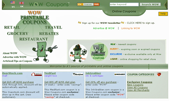 WoW Coupons - Free Coupons