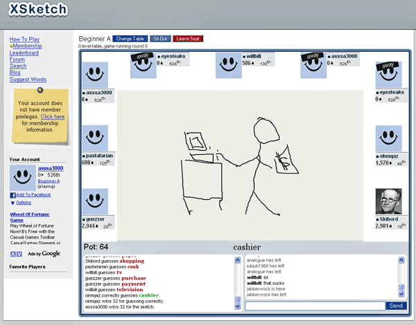 Online Multiplayer Pictionary Game