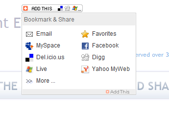 Add Social Bookmarking Links to your Blog