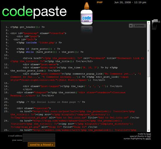 CodePaste - Send Code to an Email