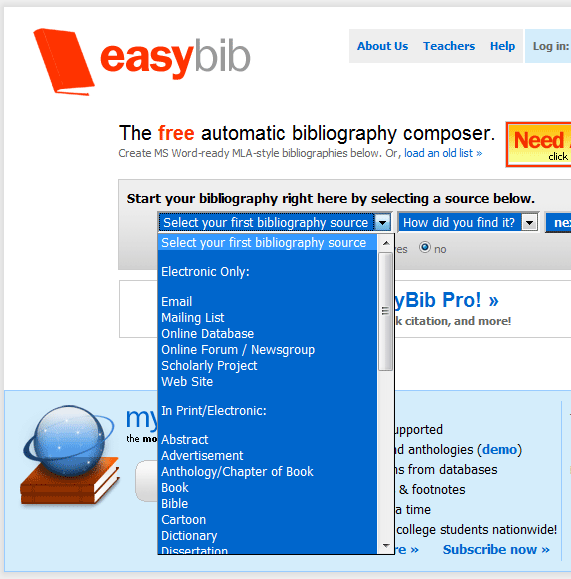 Bibliography Formatter Tool