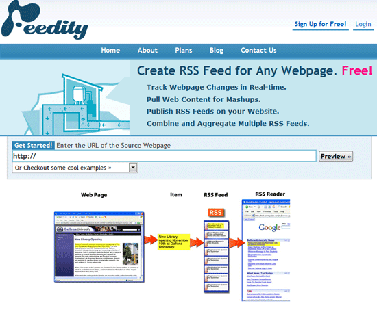 Feedity - Subscribe to Sites that Don't Offer RSS Feeds