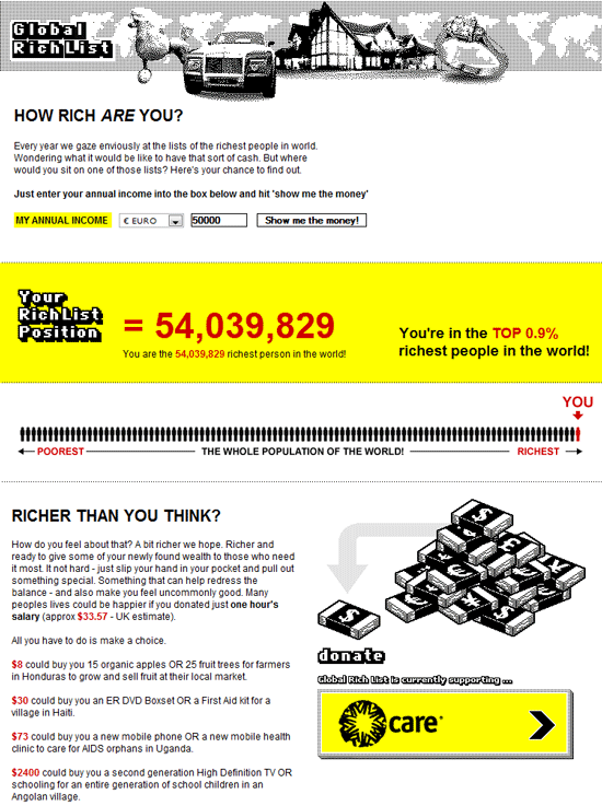 global rich list   Global Rich List: How Rich Am I in The World ?