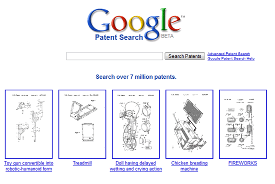Google patents comprehensive patent search engine