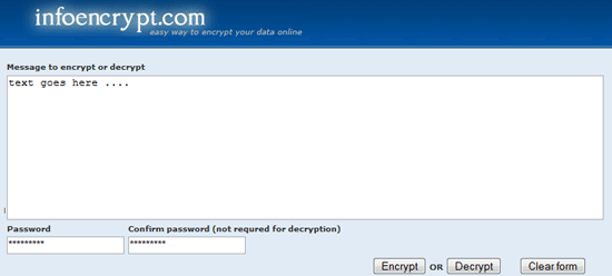 InfoEncrypt - Encrypt Decrypt Text Online