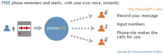 Phonevite - Blast Out Voice Messages To Your Team For Free phonevite1