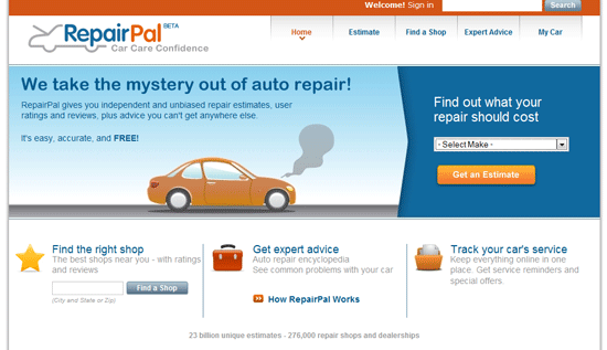 repair pal cars   RepairPal: Get Car Repair Estimates and Service Shops in your Area
