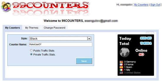 99 counters   99counters: Stylish Web Counters for your Blogs and Profile Pages
