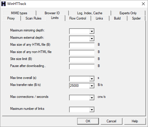Save and Backup Websites for Offline Reading With HTTrack HTTrack 03