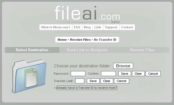 transfer large files email