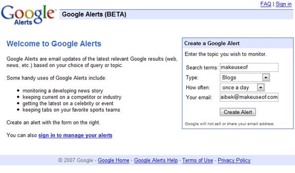 News Alert Email