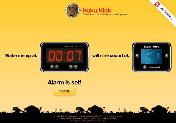 alarm clock on the internet