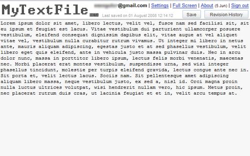 mytextfile - online text editor