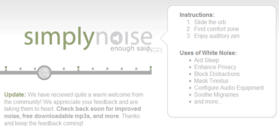 simply noise white   SimplyNoise: Relax and Block Distractions with White Noise