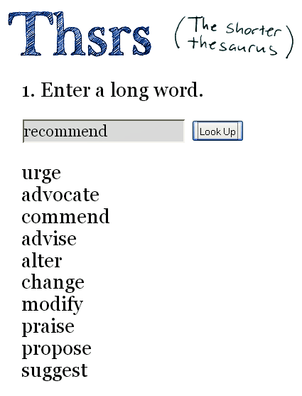 find synonyms for words