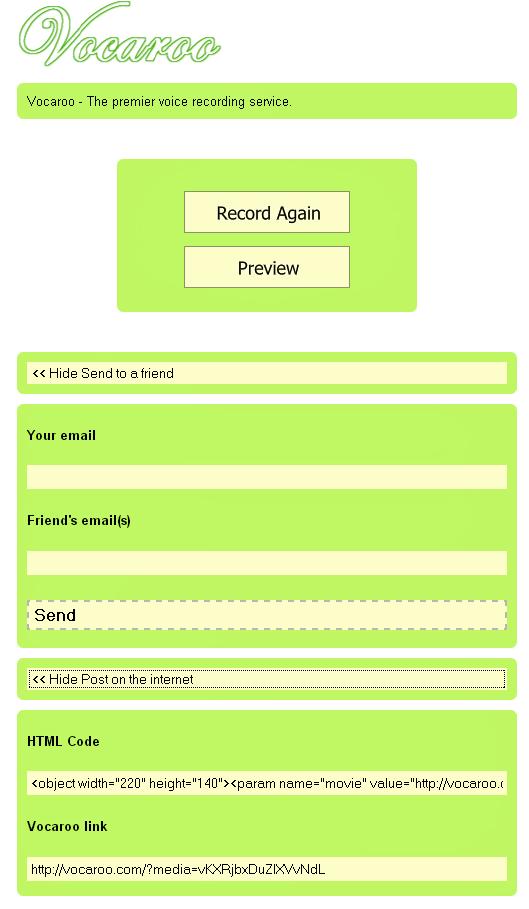 Online Voice Recording