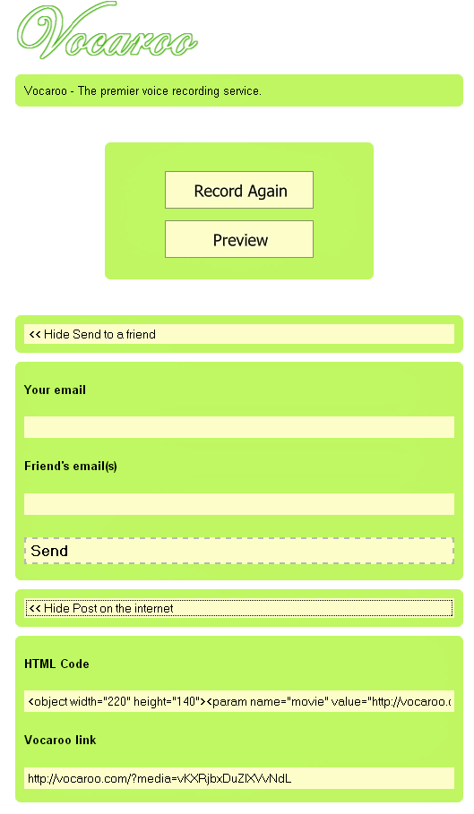 vocaroo   Vocaroo: Record Voice, Send it to Friends, Post it Online