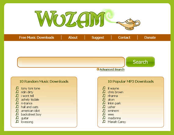 wuzam1   WuZAM: MP3 Search Engine