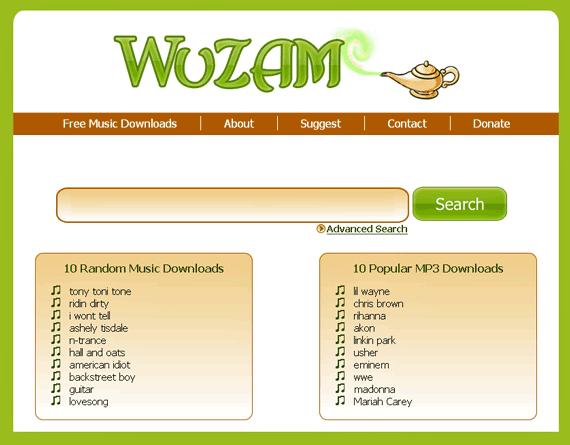 wuzam1   WuZAM: MP3 Search Engine
