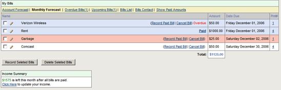 budget tracker bills   BudgetTracker: Personal Finance Calculator and Budget Tracking