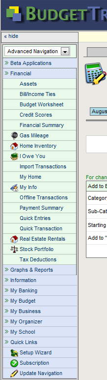 budget tracker nav2   BudgetTracker: Personal Finance Calculator and Budget Tracking