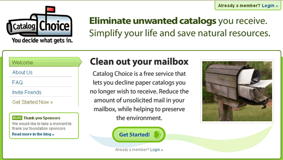 opt out of catalogs