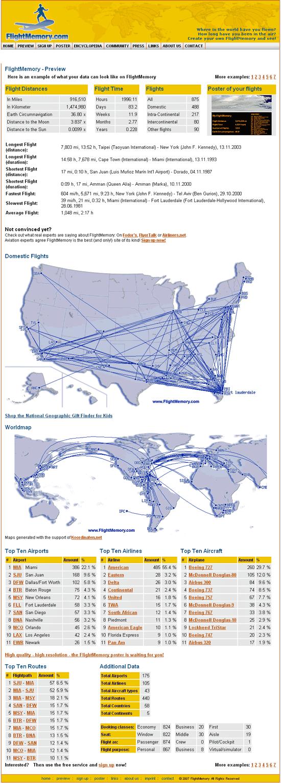 flightmemory - flight mapping