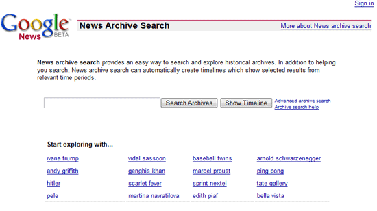 search news archives