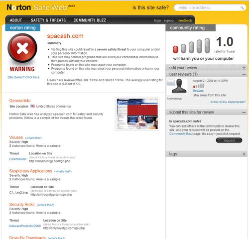 norton safeweb 2   Norton SafeWeb: Is This Website Safe?