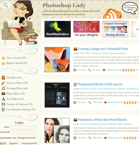 photoshop lady tutorials   Photoshop Lady: Cool Photoshop Tutorials