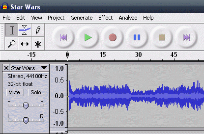 How To Make MP3 Mobile Ringtones With Audacity starwarsringtone1