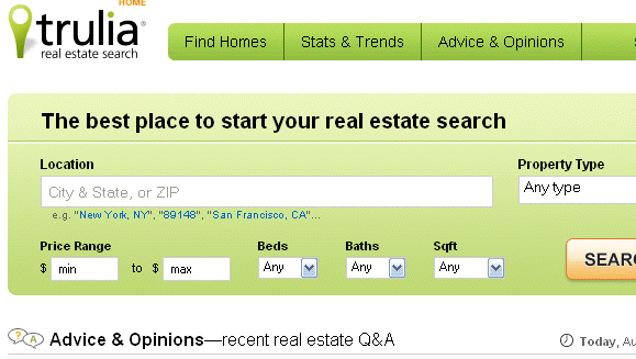 The 5 Most Significant Online Property Search Engines - Part 3,4, 5 truliafrontpagemain