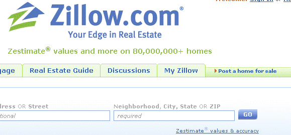 The 5 Most Significant Online Property Search Engines - Part 3,4, 5 zillow1