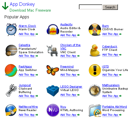 appdonkey   AppDonkey: Directory of Free Software for Mac