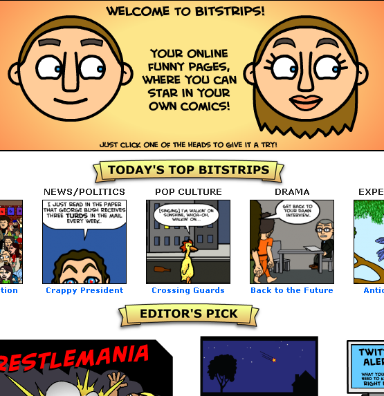 bitstrips1   BitStrips: Easily Create Cool Comic Strips Online